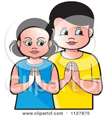 girl and boy praying