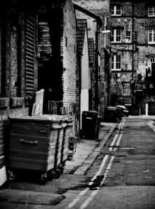 dark back street by Petr Kratochvil
