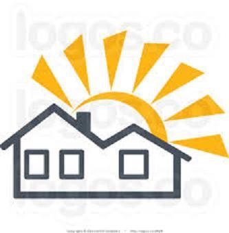 house in summer sun