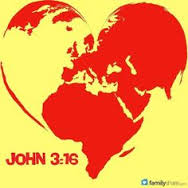 John 3 16 and map of world