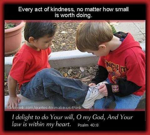 a little act of kindness makes a difference
