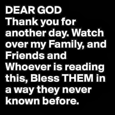 Dear God thank you for Your richest blessings