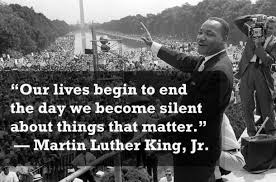 Martin Luther King silent aboout the things that matter
