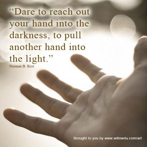 helping-hand into light
