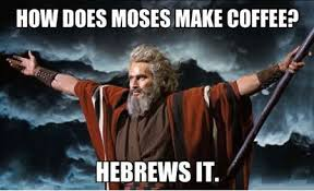 Moses makes coffee
