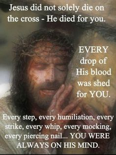 image of Christ cwith cross dying for you