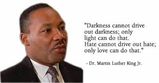 only love can drive out hate MLK