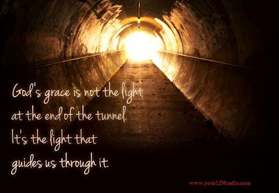 grace light guides through tunnel