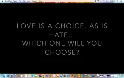 choice between love and hate