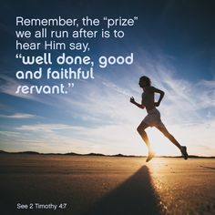 runner well done good and faithful servant