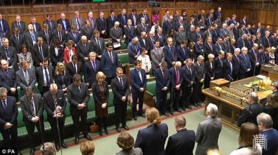 UK parliament minute of silence