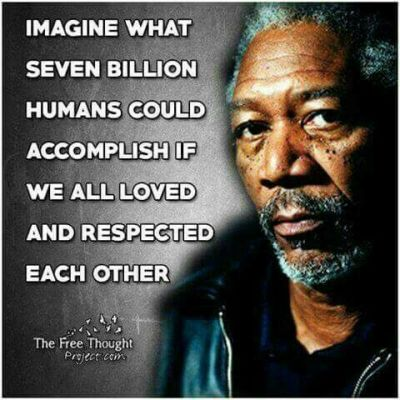 Morgan Freeman what 7000000000 people could accomplish