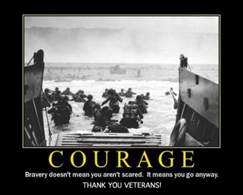 thanks veterans what is courage